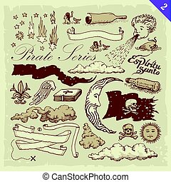 pirata, illustrazioni