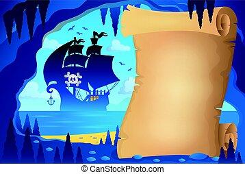 pirata, imagem, caverna, pergaminho, 4