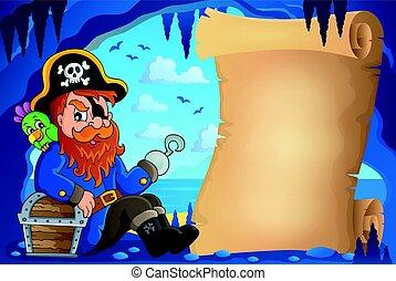 pirata, imagem, caverna, pergaminho, 6