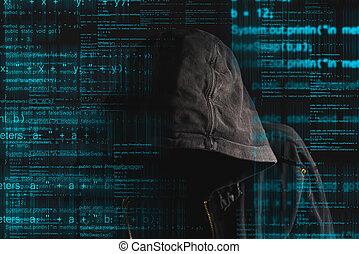 pirata informático, encapuchado, faceless, anónimo, computadora