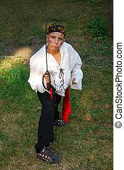 pirata, ligado, dia das bruxas