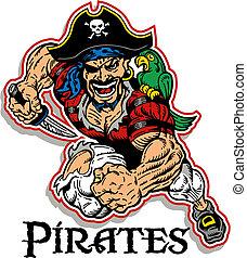 pirata, mascota