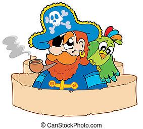 pirata, pergamino