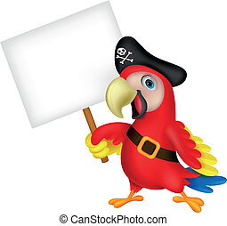 pirata, silicio, cartone animato, pappagallo, vuoto