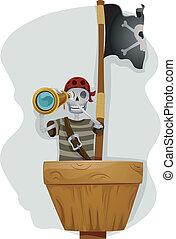 pirata, telescopio