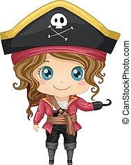 pirata, traje