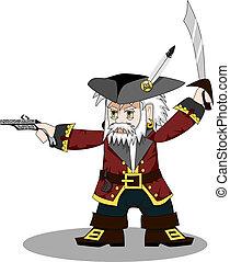 pirata, vettore
