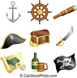 piratas, iconos