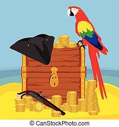 Pirate adventure illustration