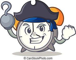 Pirate alarm clock character cartoon