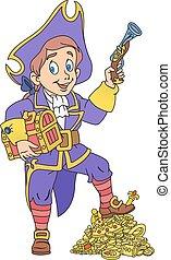 Pirate and treasure