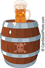Pirate barrel