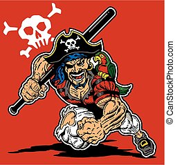 pirate baseball mascot