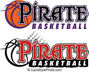 pirate basketball design with basketball