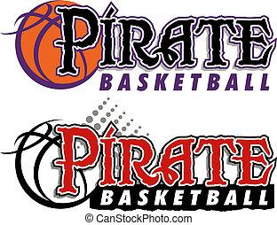 pirate basketball design with basketball