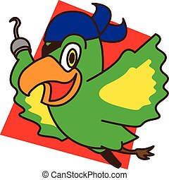 Pirate bird flying vector