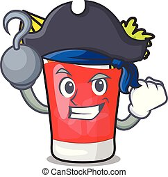 Pirate bloody mary character cartoon vector illustration