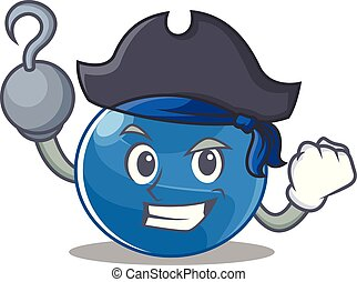 Pirate blueberry character cartoon style