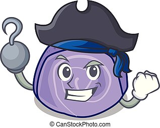 Pirate blueberry roll cake character cartoon