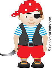 pirate boy - boy playing dress up as a pirate