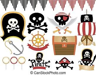 Pirate Boy Party Theme Illustration