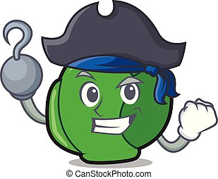 Pirate brussels character cartoon style vector illustration