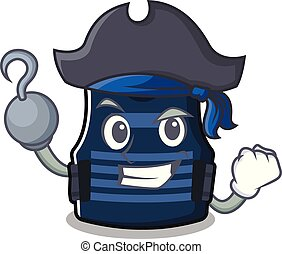 Pirate bulletprof vest isolated in the mascot