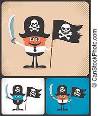 Pirate Businessman - Conceptual illustration of businessman...