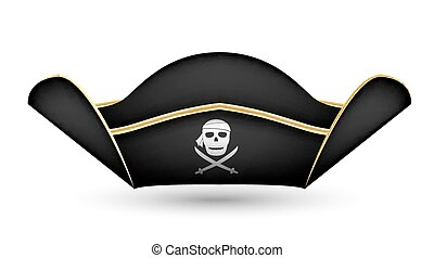 pirate captain hat on  a white background