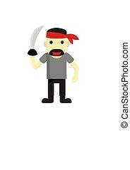 pirate cartoon design 5