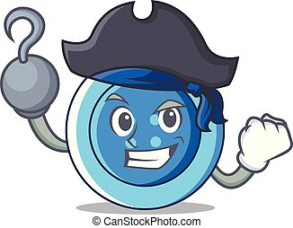 Pirate clothing button character cartoon