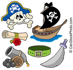 Pirate collection 3 - isolated illustration.