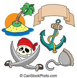 Pirate collection 4 - isolated illustration.