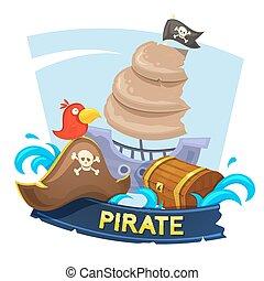 Pirate concept design, vector illustration