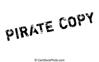 Pirate Copy rubber stamp