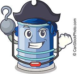 Pirate cylinder bucket Cartoon of for liquid