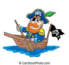 pirate, dans, les, bateau