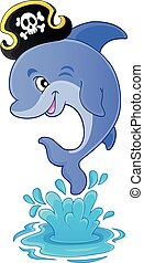 Pirate dolphin theme image 1