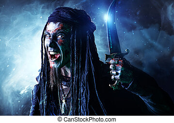 pirate dreadlocks - Pirate a drowned man, Hellraiser....