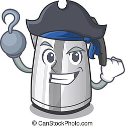 Pirate electric stainless steel kettle on character
