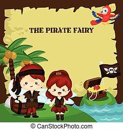 Pirate Fairy Card