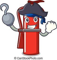 Pirate fire extinguisher character cartoon