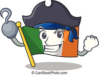 Pirate flag ireland isolated with the cartoon vector ...