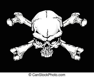 Pirate Flag - Jolly Roger style skull and crossbones flag...