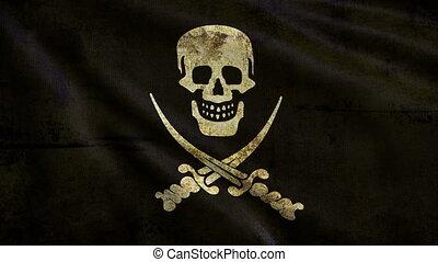 Pirate flag looping