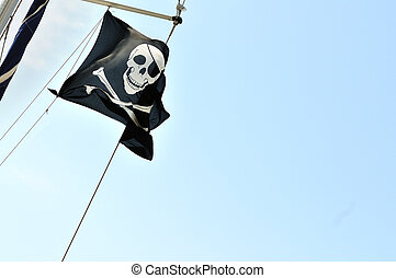 Pirate flag on board