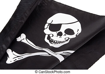 Pirate Flag - Black pirate flag with a skull and crossbones