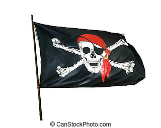 Pirate Flag, isolated