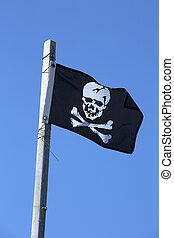 Pirate flag - Black flag with a skull also named Jolly Roger