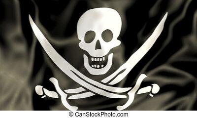 Pirate Flag waving
